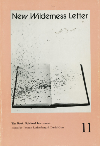 New Wilderness Letter 11 (The Book, Spiritual Instrument) (1982). Cover image by Michael Gibbs.