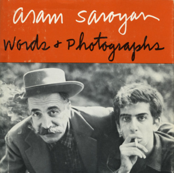 Aram Saroyan, Words & Photographs (1970). The cover photograph of the author and his father was taken by Archie Minasian.