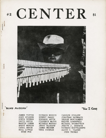 Center 2 (July 1971). Cover photograph by Tobe J. Carey.